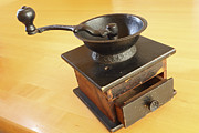 Grinders Photos - Antique Coffee Grinder by John Van Decker
