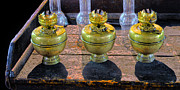 Oil Lamp Photos - Antique Kerosene Lamps by Dave Mills
