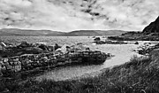 Ripples Of Black And White Prints - Antrim Coast Northern Ireland Print by Jane McIlroy