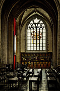 Medieval Temple Art - Antwerp Cathedral by Joan Carroll