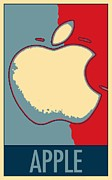 Caricature Posters Framed Prints - APPLE in HOPE Framed Print by Rob Hans