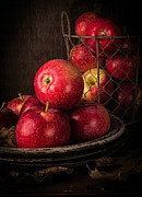 Basket Prints - Apple Still Life Print by Edward Fielding