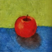 Michelle Calkins - Apple with Green and Blue