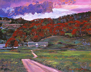 Autumn Trees Painting Posters - Approaching Storm Poster by David Lloyd Glover