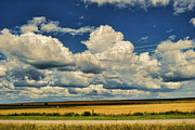 Prairie Skies Art Prints - Approaching Storm Print by Paulette Wright