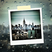 Rain Digital Art - April in NYC by Natasha Marco