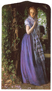 Woman In A Dress Prints - April Love Print by Arthur Hughes
