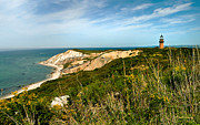 Vineyard Landscape Framed Prints - Aquinnah Gay Head Lighthouse Marthas Vineyard Massachusetts Framed Print by Michelle Wiarda