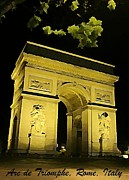 Night Scenes Digital Art Framed Prints - Arc de Triomphe at Night Framed Print by John Malone
