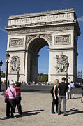 Tail Lights Photos - Arc de Triomphe  by Carl Purcell