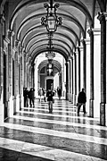 Black Commerce Art - Arcades of Lisbon by Jose Elias - Sofia Pereira