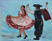 Rhythms Prints - Argentinian Folk Dance Print by Xueling Zou