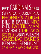 Subway Art Art - Arizona Cardinals by Jaime Friedman