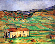 John Peter Metal Prints - Around Gardanne by Cezanne Metal Print by John Peter