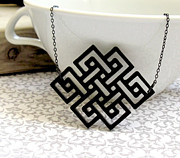 Perspex Necklace Art - Art Nouveau Geometric Necklace by Rony Bank