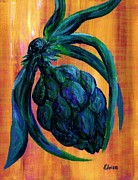 Fruit Paintings - Artichoke by Eloise Schneider