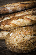 Bread Posters - Artisan bread Poster by Elena Elisseeva