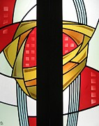 Warm Glass Art Prints - Arts and Crafts Abstract Print by Gilroy Stained Glass