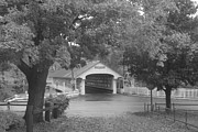 Monadnock Region Posters - Ashuelot Covered Bridge New Hampshire black and white Poster by John Burk