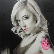 Faces Paintings - Asian Rose by Christian Chapman Art