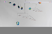 Ceiling Sculpture Posters - Asteroids Mobile Poster by Carolyn Weir