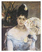 Vintage Woman Paintings - At the Ball by Berthe Morisot
