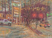 Sign Pastels - At the Corner by Donald Maier