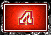 Puck Framed Prints - Atlanta Flames Framed Print by Joe Hamilton