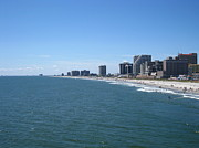 Swimming Metal Prints - Atlantic City - 01137 Metal Print by DC Photographer