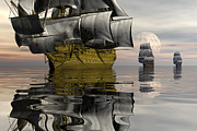 """tall Ship"" Prints - Attack squadron Print by Claude McCoy"