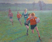 Terry Perham Art - Auckland Rugby by Terry Perham