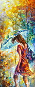 Original Oil Paintings - Aura of Autumn 1 by Leonid Afremov
