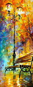 Afremov Painting Metal Prints - Aura of Autumn 2 Metal Print by Leonid Afremov