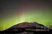 Aurora Borealis And Milky Way Print by Joseph Bradley