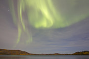 Yukon River Prints - Aurora Borealis With Big Dipper Print by Joseph Bradley