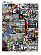 Austin Digital Art Posters - Austin is Our Town Poster Poster by GretchenArt FineArt