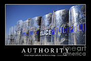 Law Enforcement Prints - Authority Inspirational Quote Print by Stocktrek Images