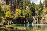 Autumn Scene Framed Prints - Autumn At Hanging Lake Waterfall - Glenwood Canyon Colorado Framed Print by Brian Harig