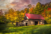 Tennessee Barn Prints - Autumn Beauty Print by Debra and Dave Vanderlaan