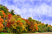 Photomanipulation Photo Prints - Autumn Colors Apearing I - Digital Paint Print by Debbie Portwood