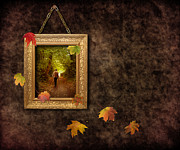 Gold Chain Metal Prints - Autumn Frame Metal Print by Christopher and Amanda Elwell