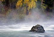 River Tapestries Textiles Originals - Autumn Mist by Mike  Dawson