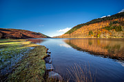 Llyn Prints - Autumn Reflections Print by Adrian Evans