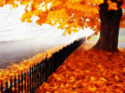 Fence Pastels - Autumn by Stefan Kuhn