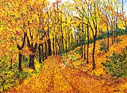 Edge Paintings - Autumn Study by Candy Zohbon