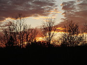Photos Of Autumn Prints - Autumn Sunset Print by Gene Cyr