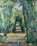 Famous Artists - Avenue at Chantilly by Paul Cezanne