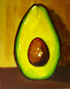 Decor Prints Paintings - Avocado Palta VII by Patricia Awapara