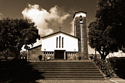 Gaspar Avila Acrylic Prints - Azorean church Acrylic Print by Gaspar Avila