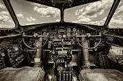 B-24 Framed Prints - B-17 Cockpit Framed Print by Mike Burgquist